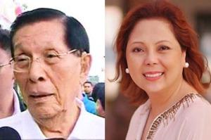 Sen. Juan Ponce Enrile and Atty. Gigi Reyes