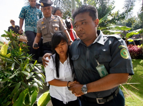 Indonesian jugde sentenced to death for Philipino, Mary Jane Fiesta Veloso, during a trial in Yogyakarta.