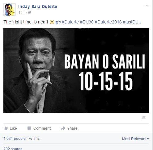 Inday Sara FB