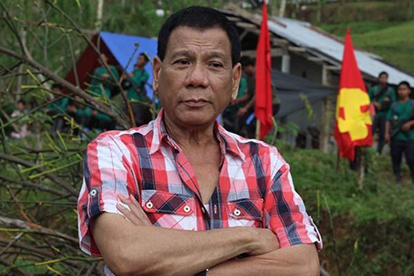 Duterte with NPA