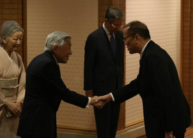 PNoy and Japanese emperor