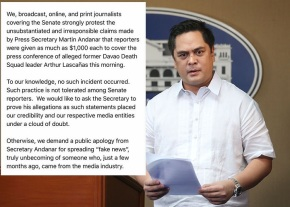 Communications Secretary Martin Andanar during press briefing held at the New Executive Building in Malacañang on July 4, 2016. They read the signed proclamation declaring July 6, Wednesday, a national holiday in observation of the Eid'l Fitr. (photo by Richard V. Viñas)