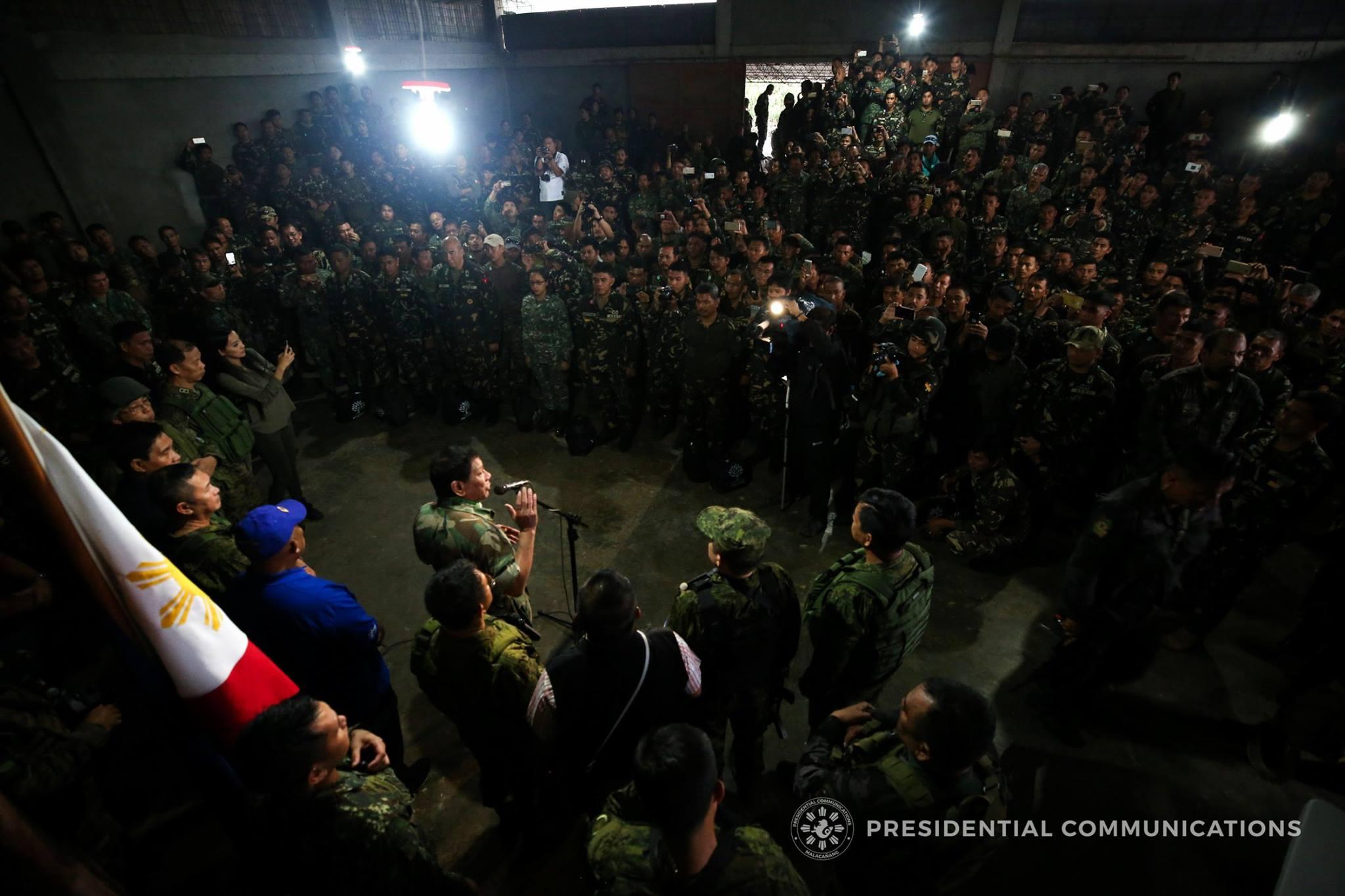 Marawi City idineklara nang malaya ni Pangulong Duterte